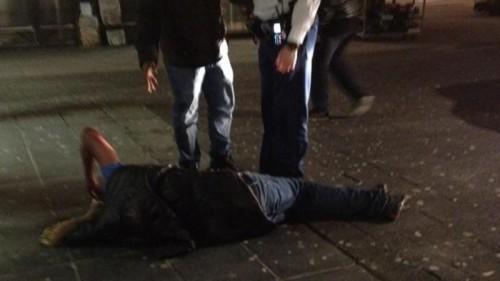 Een ooggetuige maakte deze foto na het incident @Valdiirr – Twitter / NOS Ooggetuige